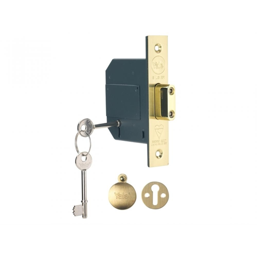 Yale PM562 Hi-Security BS 5 Lever Mortice Dead Lock 67mm 2.5in Polished Brass