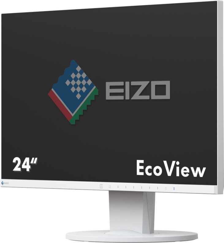 EIZO FlexScan EV2450-WT - LED-Monitor - 60 cm (23.8) - 1920 x 1080 Full HD (1080p) - IPS - 250 cd/m² - 1000:1 - 5 ms - HDMI, DVI-D, VGA, DisplayPort - Lautsprecher - weiß
