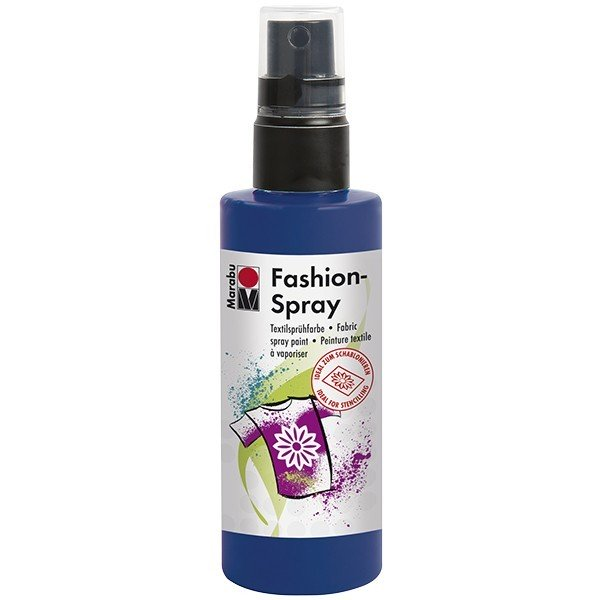 Marabu Fashion-Spray/Textil-Sprühfarbe, 100ml, nachtblau