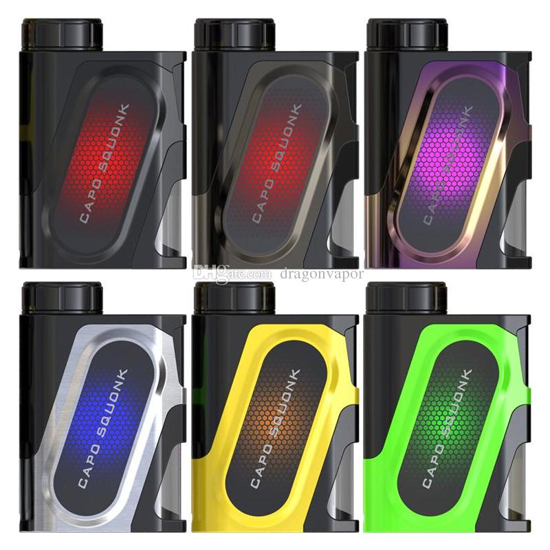 IJoy Capo Squonk Box Mod 100w Out Put Vape Mod fit 510 Thread Tank Compatible with 21700 20700 18650 Cell Update iJoy Capo