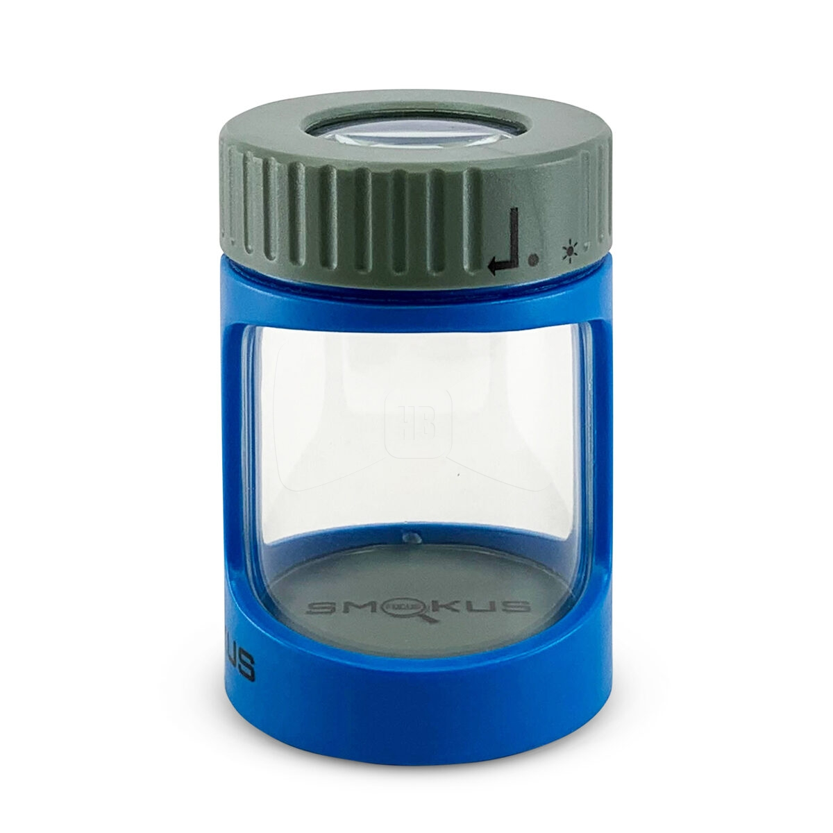 Smokus Focus Stash Jar Blue Grey