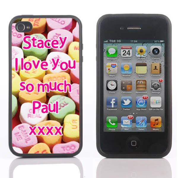 Personalised Love Hearts iPhone Cover - iPhone 4/4s and 5 Covers