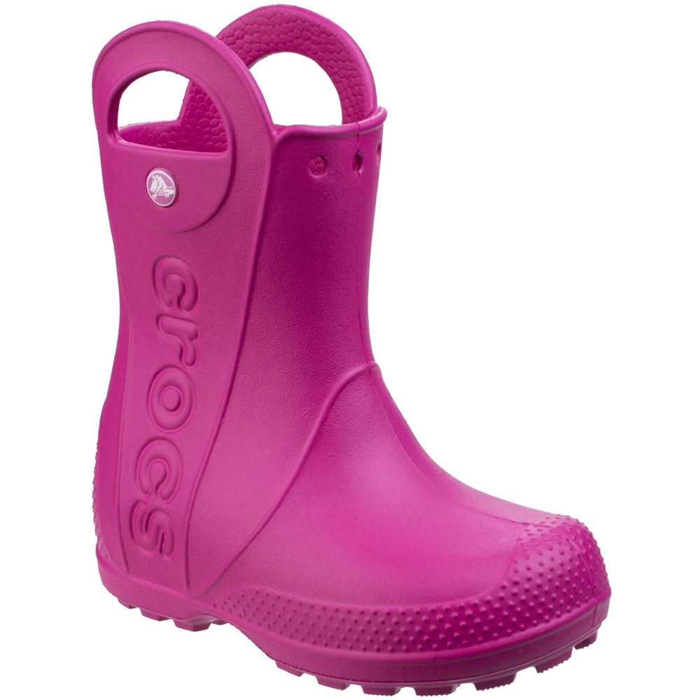 Crocs Boys & Girls Handle It Rain Waterproof Wellies Wellington Boots UK Size 8 (EU 24-25  US C8)