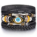 Men's Leather Bracelet Loom Bracelet Retro Weave Infinity Evil Eye Classic Vintage European Casual / Sporty Leather Bracelet Jewelry Black For Street Holiday Going out Work