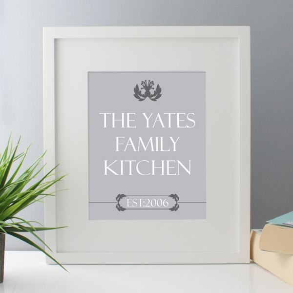 Family Kitchen Personalised Framed Print