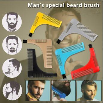 Beard Bro Beard Shaping Tools with Brush Styling Template Shaping Combs for Hair Beard Trim Template Models Moustache Combs CCA9401 60pcs