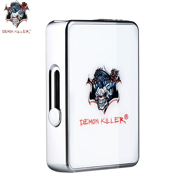 Authentic Demon Killer JBOX 420mAh Battery Vape Box Mod for Juul Cartridge - White SS Silver