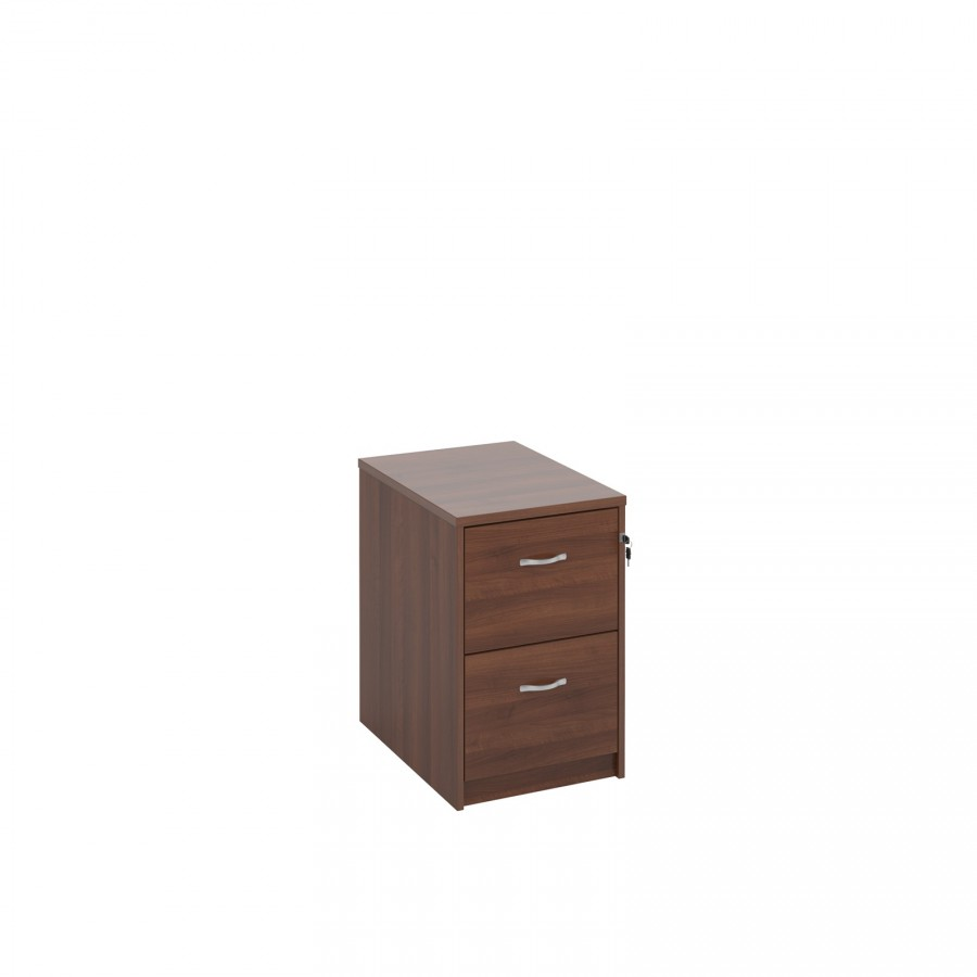 Wooden Walnut 2 Drawer Filing cabinet
