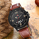 Men's Dress Watch Quartz Nylon Genuine Leather 30 m Water Resistant / Waterproof Calendar / date / day Day Date Analog Fashion Cool - White Red Green One Year Battery Life