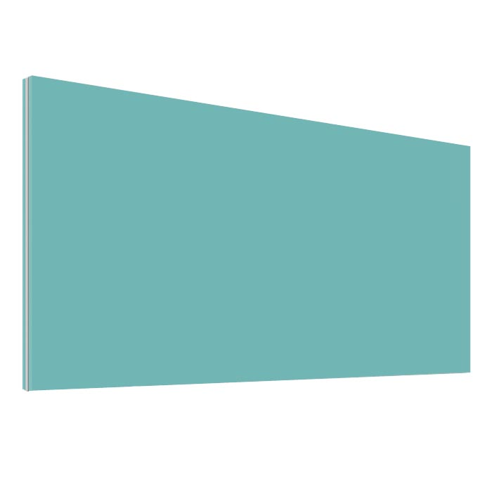 Turquoise Office Desk Screen 600mm Wide - Height 380mm