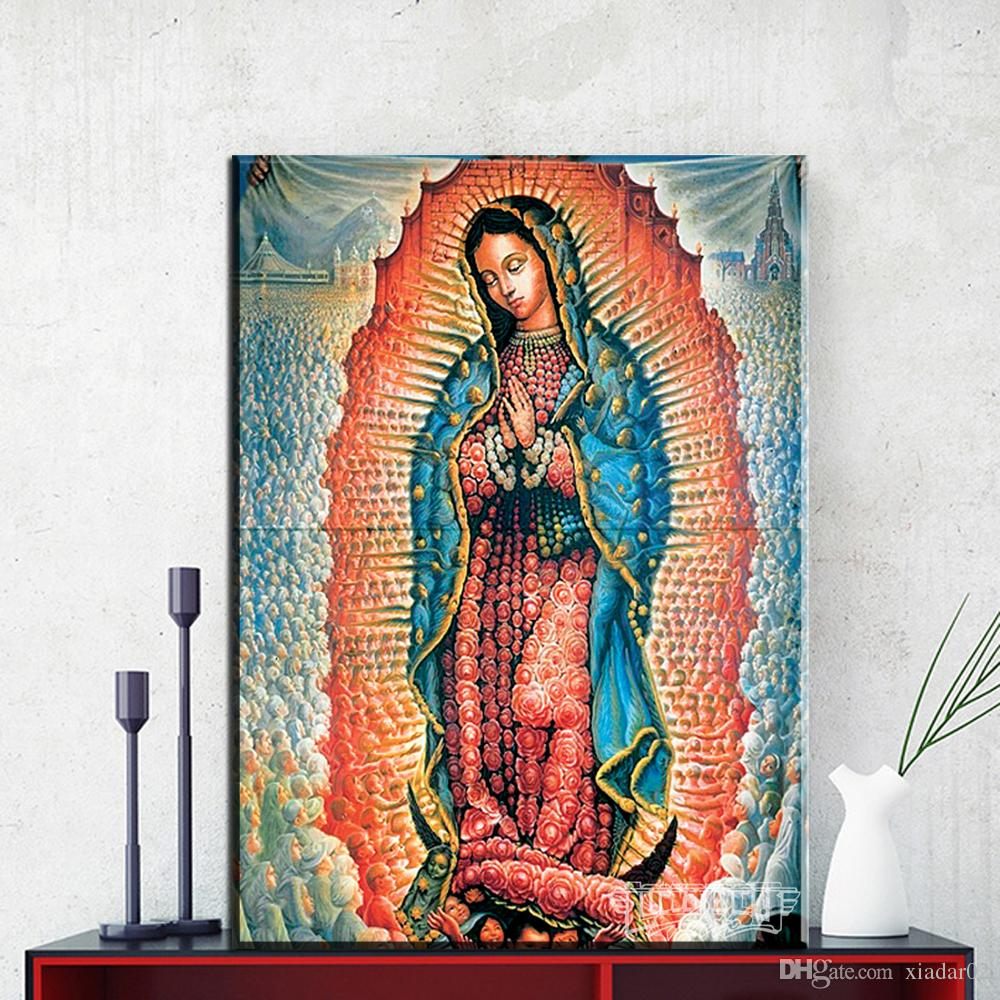 ZZ1145 Lady-Guadalupe By Mexico Artist Octavio Ocampo Art Print On Canvas For Wall Picture Decoration Oil Painting canvas prints