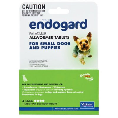 Endogard For Small Dogs And Puppies 11 Lbs (5kg) 2 Tablet