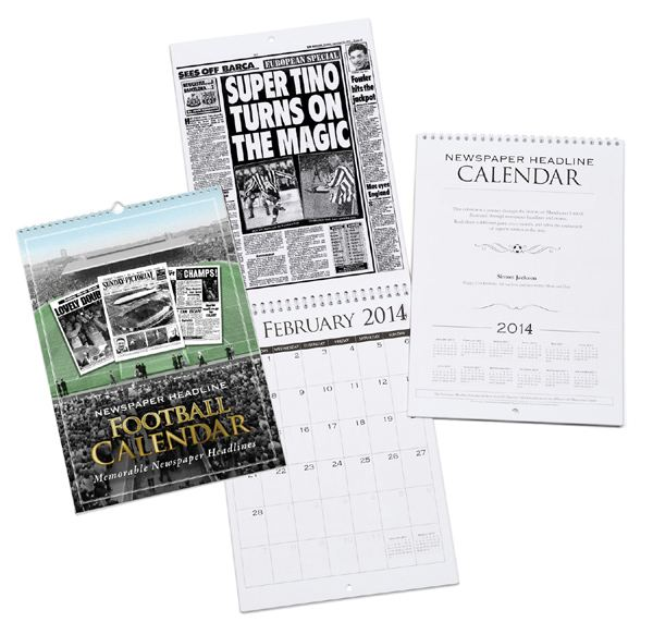 Personalised Football Calendar Hearts