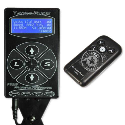Tattoo Telecontrol Power Supply/box with remote controller high quality durable & convenient Black color best selling P040