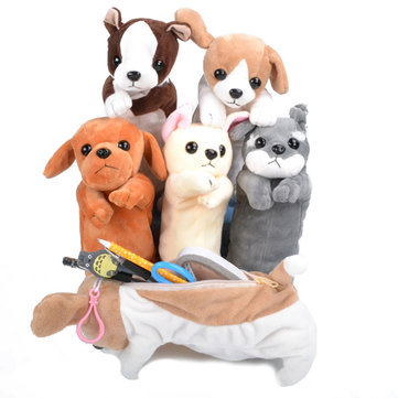 Cartoon Plush Simulation Dog Pen Bag
