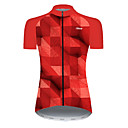 21Grams Women's Short Sleeve Cycling Jersey Black / Red Bike Top Mountain Bike MTB Road Bike Cycling Breathable Sports Clothing Apparel / Micro-elastic