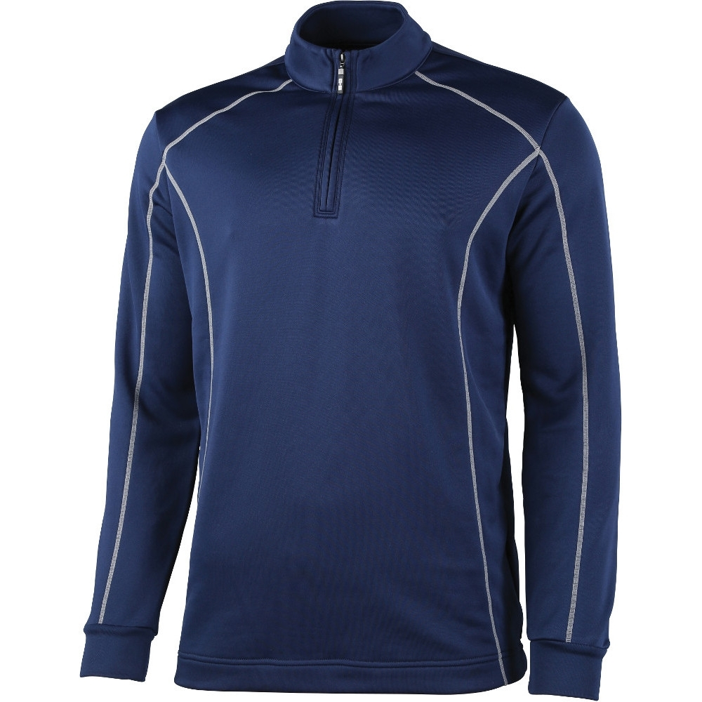 Rhino Mens Seville ¼ Zip Breathable Mid Layer Running Top XL - (Chest 46')