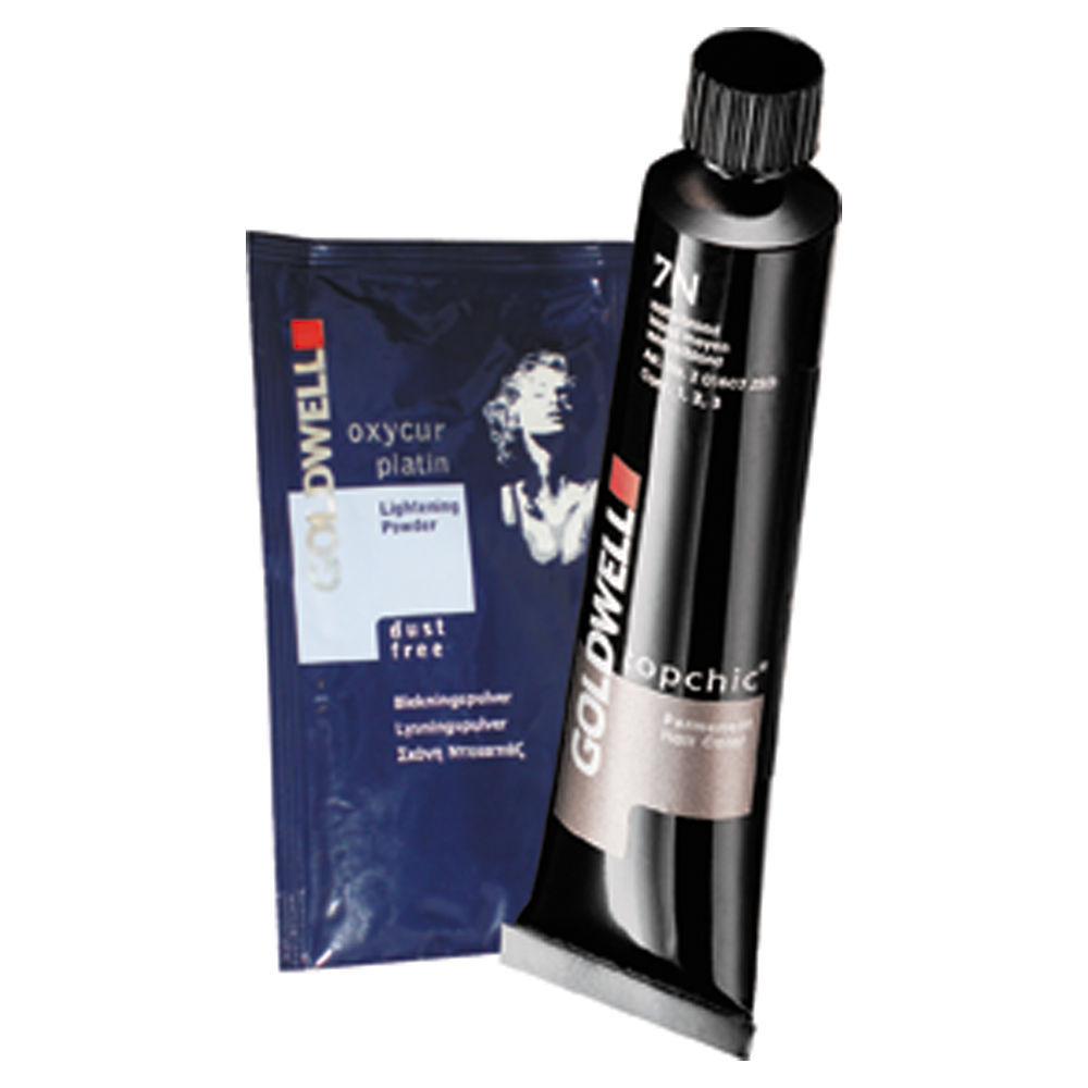 goldwell topchic permanent hair colour - 4g chestnut 60ml