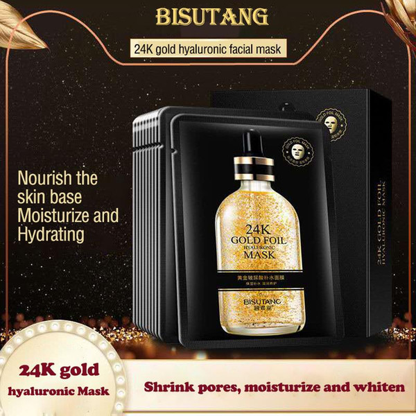 24k gold foil intensive repair natural ingredients remove wrinkles freckle mascarilla skin care oil control black face masks even skin color