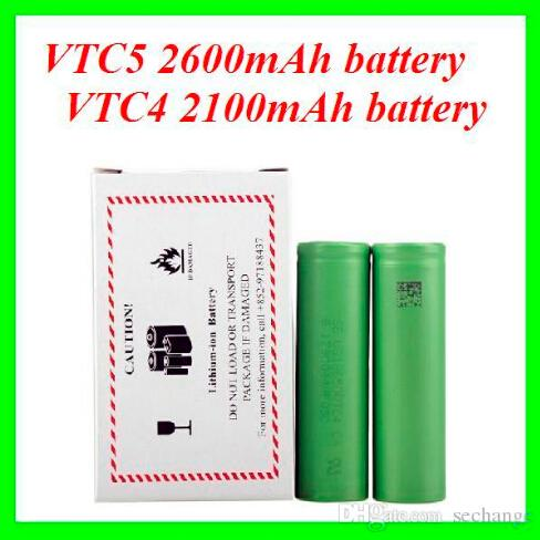 AAAA Quality 18650 battery VTC4 18650 US18650VTC4 3.7V 30A 2100mAh VTC4 High Drain Rechargeable Battery For Electonic Cigarette