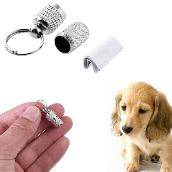 new pet dog cat address label barrel storage tube silver identification card pet drop shipping