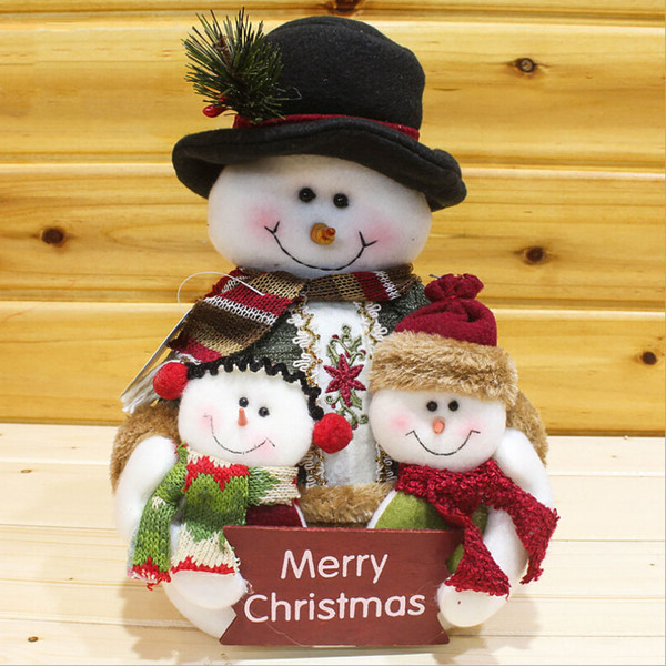 Christmas Doll Xmas Ornament Colorful Cloth Craft Gift DIY Table Decoration Party Festival NEW Snowman Home