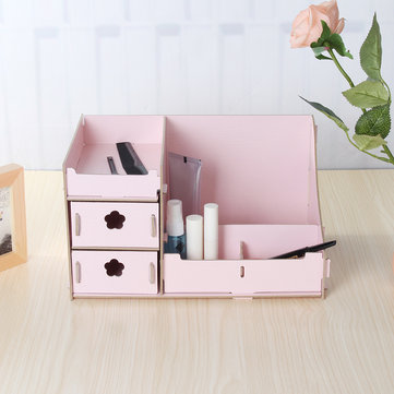 DIY Wooden Cosmetic Organizer Box
