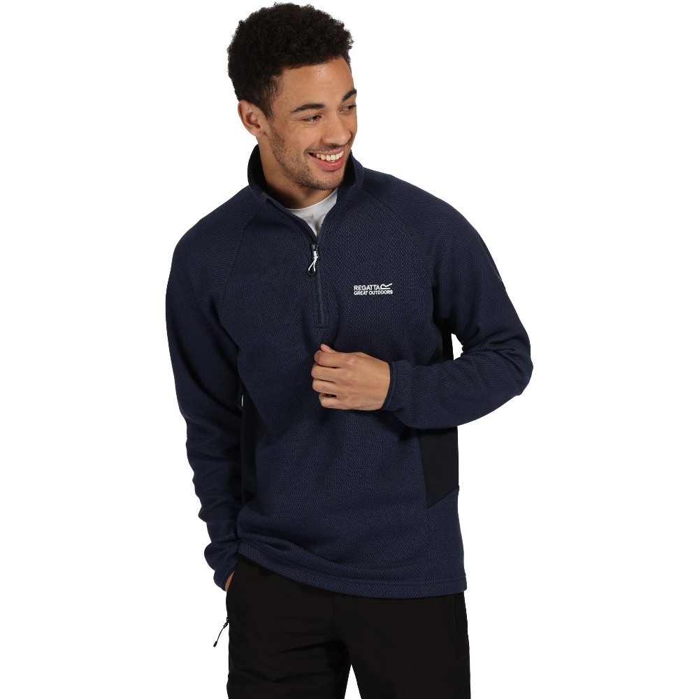 Regatta Mens Highton Half Zip Cotton Fleece Jacket XXL - Chest 46-48' (117-122cm)