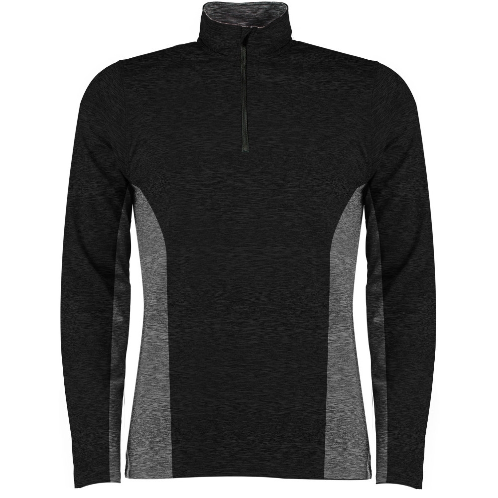 Rhino Mens Jupiter Zipped Contrast Performance Running Top 2XL - (Chest 48')