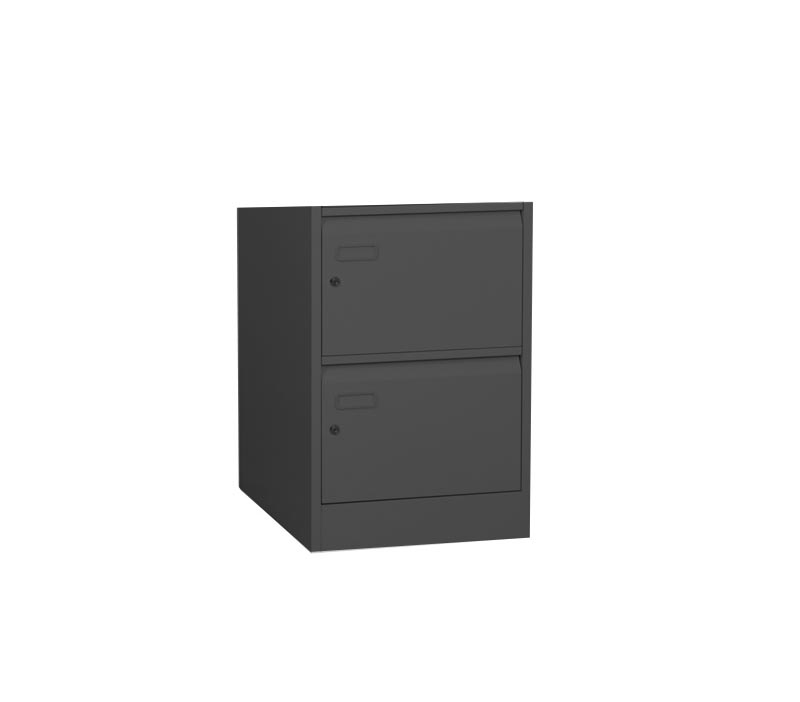 Graphite Grey Security Filing Cabinet with 2 Individual Locking Drawers