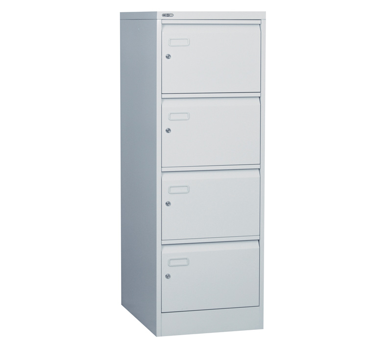 Metal Filing Cabinet with 4 Individual Locking Drawers Choice of Colours