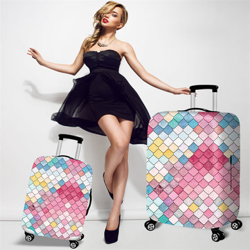 Honana Mermaid Embossment Style Elastic Luggage Cover