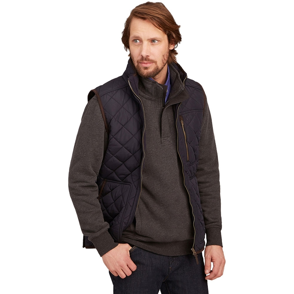 Joules Mens Halesworth Quilted Fleece Lined Bodywarmer Gilet S - Chest 36-38' (91.5-96.5cm)