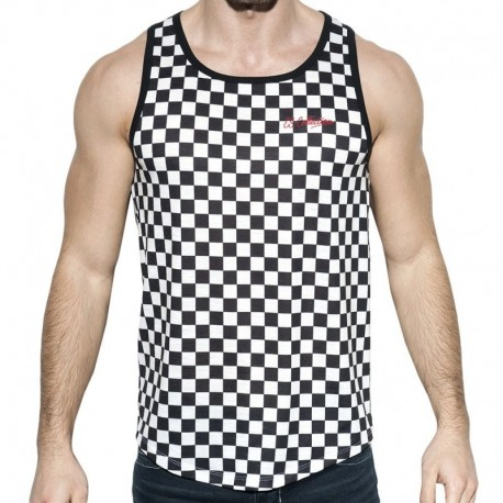 ES Collection Rally Tank Top - Black - White S