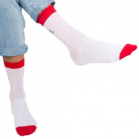 Surprise Sailor Socks - White - Red TU