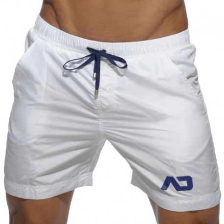 Addicted Long Basic Swim Short - White M