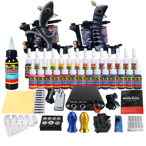 Tattoo Machine Set New Tattoo Material Coil Machine Full Set Cutting Line Suit microblading needles