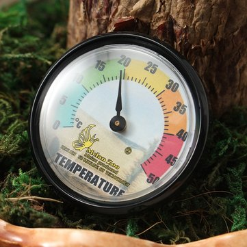 Reptile Vivarium Thermometer Dial Gauges with Colour Codes