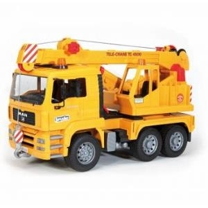BRUDER MAN Crane truck (without Light and Sound Module) - Gelb - ABS Synthetik - 1:16 (02754)