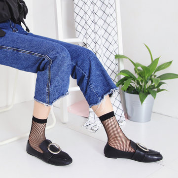 Women Fishnet Socks Breathable Ruffle Mesh Socks Punk Sexy Lace Ankle Sock