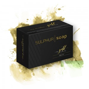 Eco Masters Sulphur Soap - For Clogged & Oily Skin Problems - 100g x 2 Topical Application