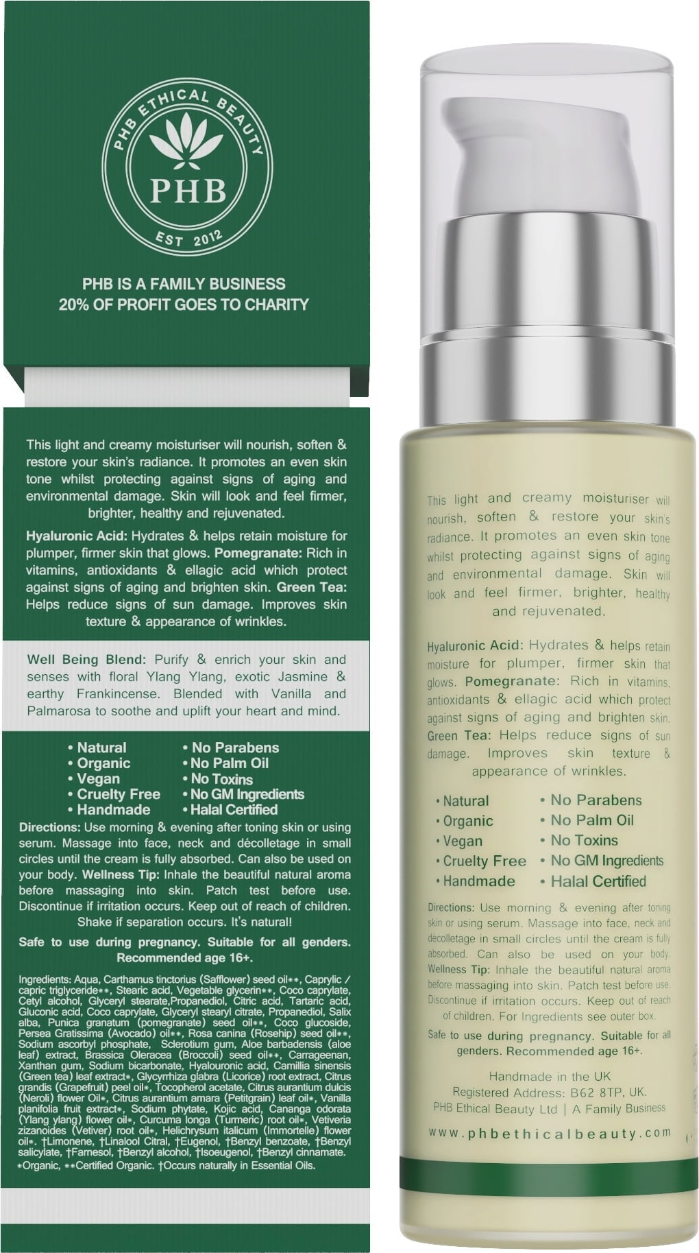 PHB Ethical Beauty Superfood Brightening Moisturiser