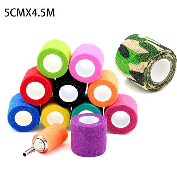 10pcs disposable tattoo self-adhesive elastic bandage tattoo machine grips cover wrap tape supplies