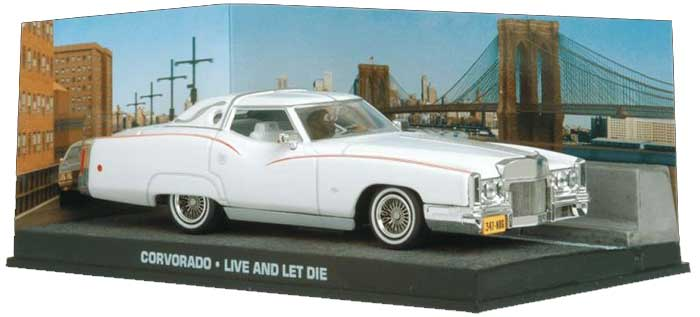 Cadillac Eldorado from James Bond in White (1:43 scale by Ex Mag DY022)