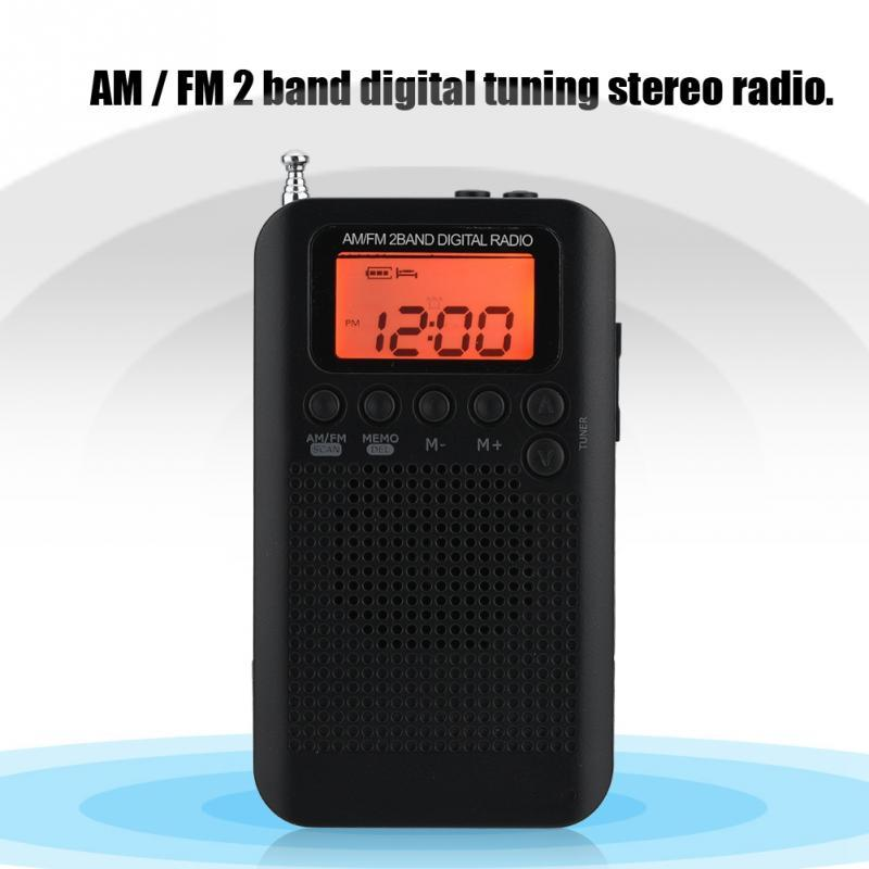 AM FM Digital Radio 2 Band Stereo Radio Digital Tuning RadioPortable Pocket ICD Screen