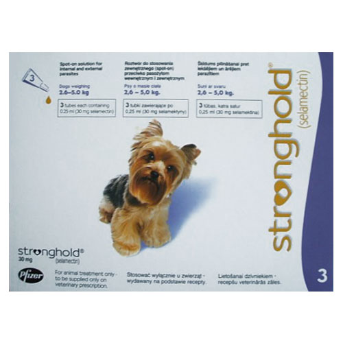 Stronghold Dogs 2.6-5.0 Kg 30 Mg (Violet) 6 Pipette