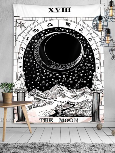 Tarot Moon Pattern Wall Hanging Decorative Tapestry
