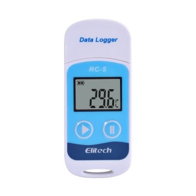 10 Pieces RC-5 USB Temperature Data Logger for Warehouse Storage Refrigerated Transport Laboratory