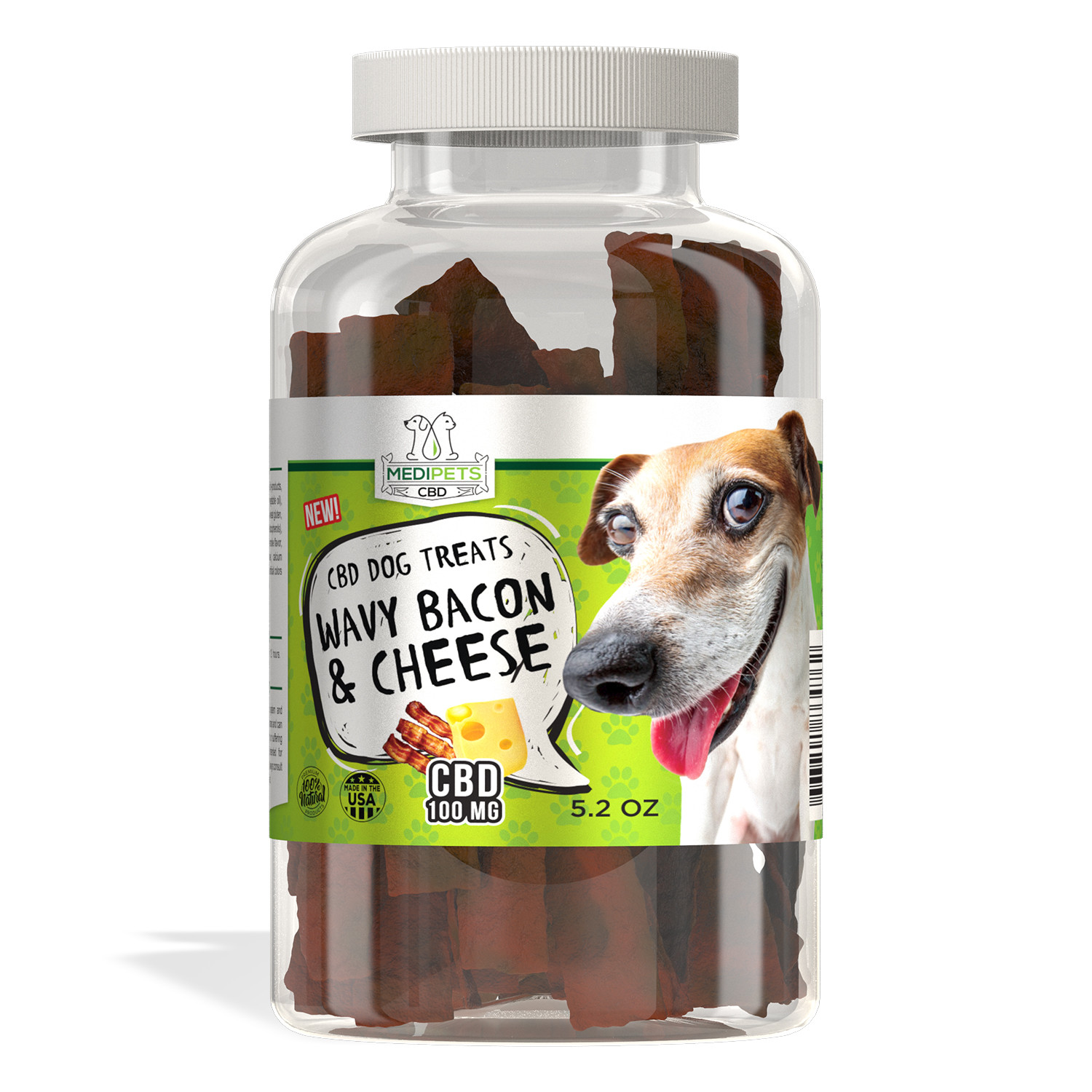MediPets CBD for Medium Dogs Bundle - CBD Pet Oil 150mg; Treats-Meaty Steak Treats; Wavy Bacon & Cheese Bites