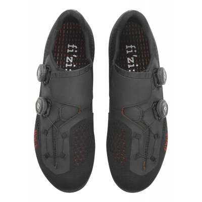 FIZIK R1 Infinito Road Shoes Knit Black Knitted/Red 42